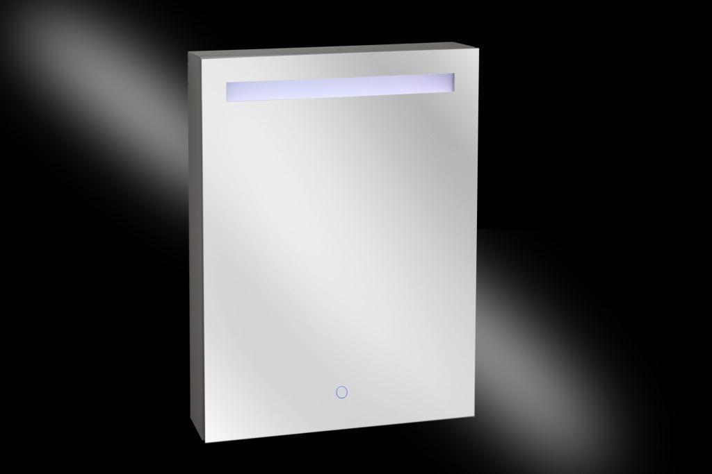 Aluma spiegelkast LED verlichting 600x800x135MM Aluminium