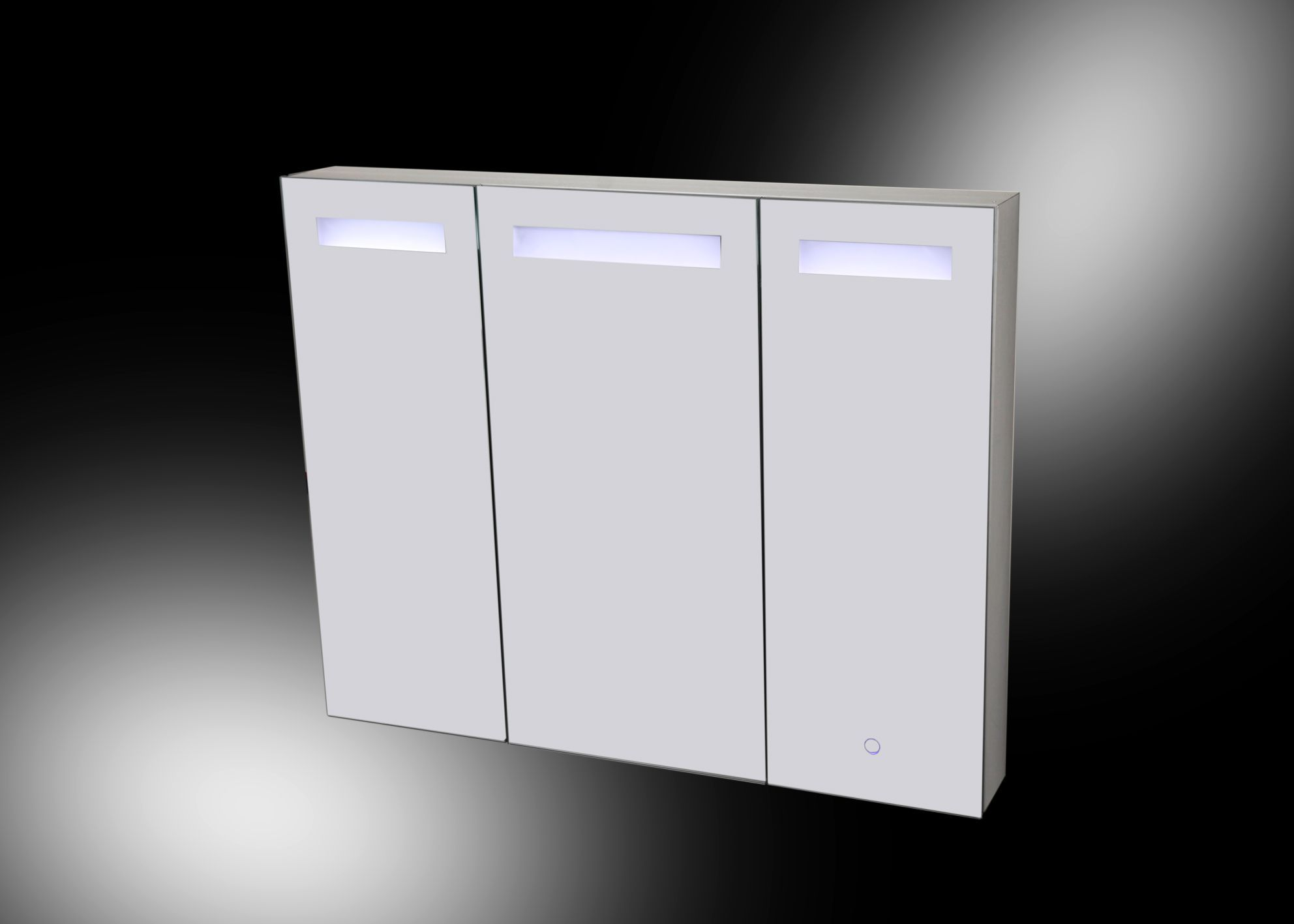 aluma spiegelkast led verlichting 1000x800x135mm aluminium