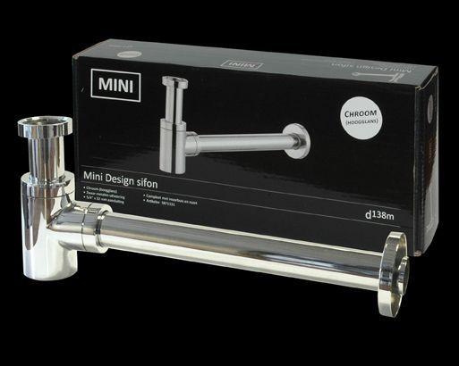 ADW design sifon Mini 114 chroom # Wasbak Sifon_013403