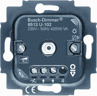busch jaeger tronic dimmer 40 400w 6513u gloeilamp. Black Bedroom Furniture Sets. Home Design Ideas