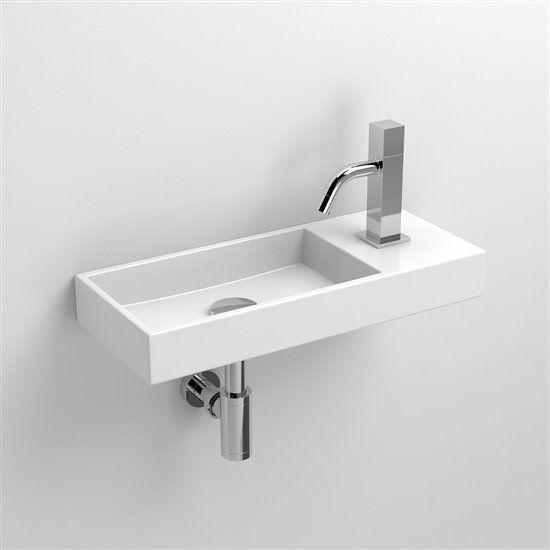 Mini Fontein Toilet.Clou Mini Wash Me Fontein Rechts 450x190x60mm Wit