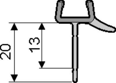 huppe afvoerprofiel universeel recht 6mm 1000mm 070048. Black Bedroom Furniture Sets. Home Design Ideas