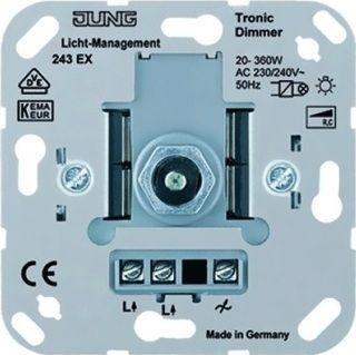 jung tronic dimmer 20 360w 243ex gloeilamp halogeen 230v tronic. Black Bedroom Furniture Sets. Home Design Ideas