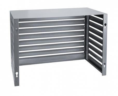 Evolar Evo-cover small antraciet airco buitenunit omkasting 700 X 1000 X 500 MM achterkant