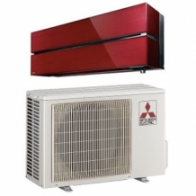 Mitsubishi Electric WSH-LN25i Diamond range Ruby Red Single Split airco inverter warmtepomp set