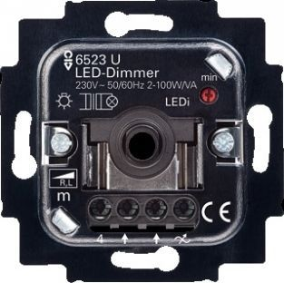 busch jaeger led dimmer 2 100w 6523u led. Black Bedroom Furniture Sets. Home Design Ideas