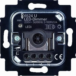 busch jaeger led tastdimmer 2 100w 6526u led. Black Bedroom Furniture Sets. Home Design Ideas
